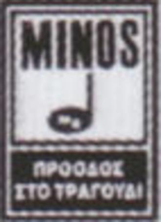 "Minos EMI - The Minos label under Minos EMI, which read ""Progress in Song""."