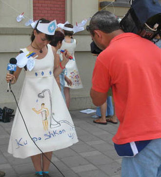 The Mischief Makers - Interview for National Albanian TV, Tirana, July 2006