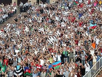 Neftçi PFK - Neftchi fans at Tofiq Bahramov Stadium