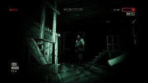 Outlast - The player can see the environment and other enemies in the dark by using the night vision mode on their camcorder.