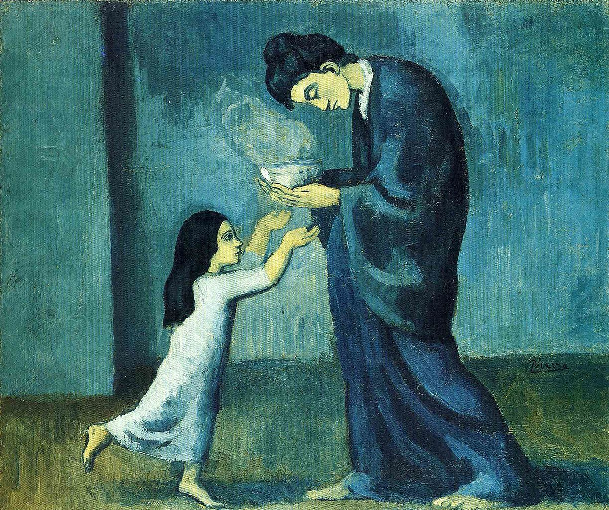 file pablo picasso la soupe the soup oil on canvas file pablo picasso 1902 03 la soupe the soup oil on canvas 38 5 x 46 0 cm art gallery of ontario toronto jpg