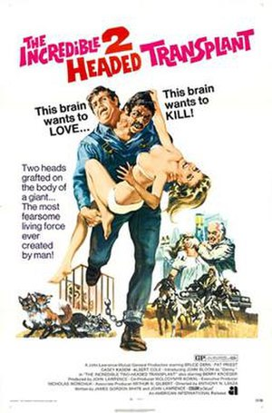 The Incredible 2-Headed Transplant - Image: Poster of the movie The Incredible 2 Headed Transplant