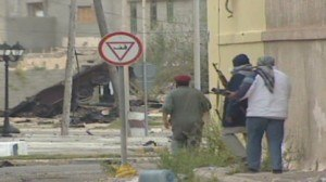 Battle of Misrata - Rebels during street fighting