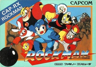 Mega Man (video game) - Original Family Computer cover art