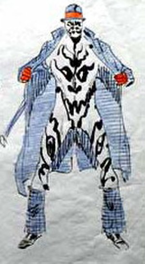 Rorschach (comics) - Dave Gibbons' original design of Rorschach