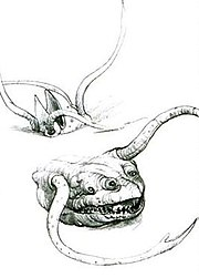 Concept art for the Sarlacc by Industrial Light and Magic.