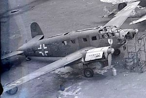 Scrapped Siebel Si 204 at Wunstorf, Germany, 1945