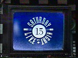 The title card for the sixteenth season of Saturday Night Live.