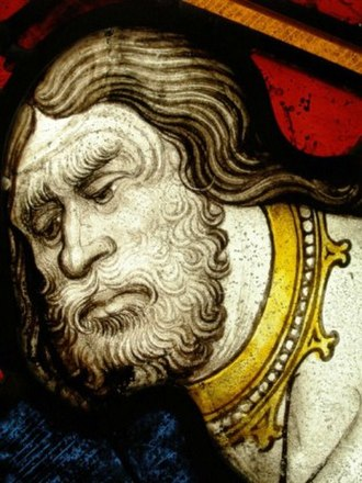 John Thornton (glass painter) - Thornton's depiction of St John the Baptist, from the Great East Window of York Minster, showing his characteristic treatment of faces