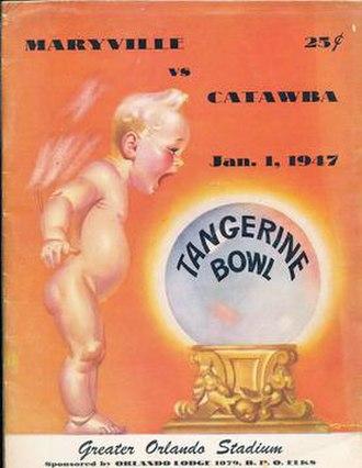 1947 Tangerine Bowl - Program cover for 1947 game