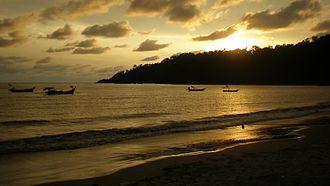 Manjung District - Sunset view in Teluk Senangin