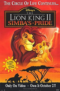 <i>The Lion King II: Simbas Pride</i> 1998 American animated musical romantic comedy-drama film directed by Darrell Rooney