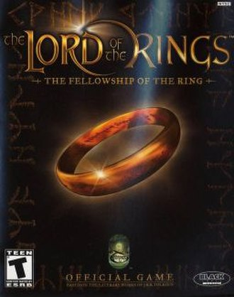 The Lord of the Rings: The Fellowship of the Ring (video game) - North American cover art