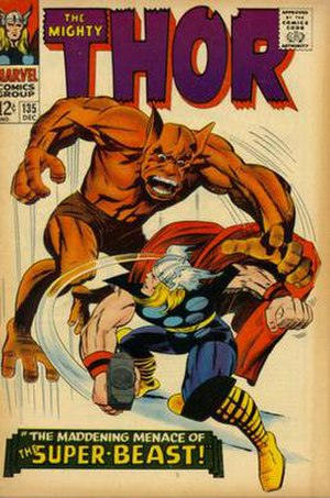 Man-Beast - Image: Thor 135