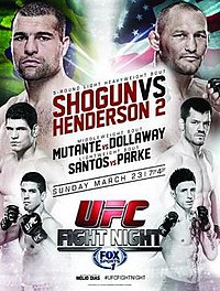 A poster or logo for UFC Fight Night: Shogun vs. Henderson 2.