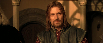 Boromir - Sean Bean as Boromir in Peter Jackson's The Lord of the Rings: The Fellowship of the Ring.