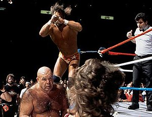 WrestleMania 2 - Macho Man Randy Savage vs. George Steele for the WWF Intercontinental Heavyweight Championship