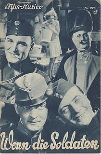 <i>When the Soldiers</i> 1931 German comedy film directed by Jacob Fleck and Luise Fleck