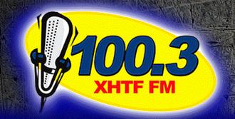 XHTF-FM - Image: XHTF 100.3FM logo Edited (1)