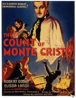 <i>The Count of Monte Cristo</i> (1934 film) 1934 film by Rowland V. Lee
