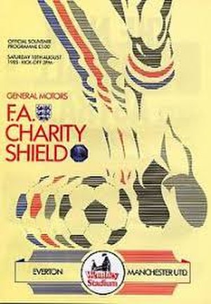 1985 FA Charity Shield - The match programme cover