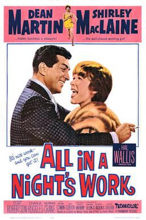 All in a Night's Work (film) - Theatrical release poster