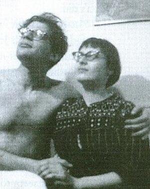 Elise Cowen - Elise Cowen (right) with Allen Ginsberg