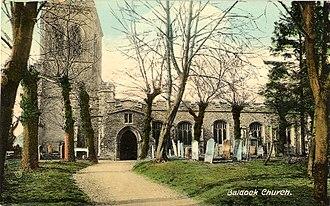 Church of St Mary the Virgin, Baldock - St Mary's church in 1907
