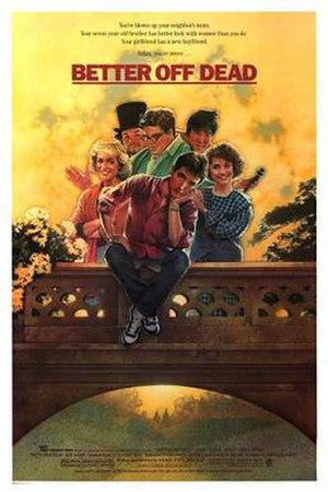 Better Off Dead (film) - Theatrical release poster by Drew Struzan