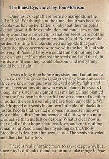 <i>The Bluest Eye</i> Novel by Toni Morrison