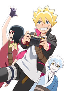 An image featuring three teenagers from Konohagakure