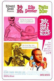 <i>Boy, Did I Get a Wrong Number!</i> 1966 film by George Marshall