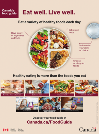 Canada's Food Guide - Canada's Food Guide, from Health Canada (released January 2019).