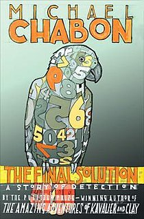 <i>The Final Solution</i> (novel) book by Michael Chabon