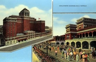 Atlantic City, New Jersey - Haddon Hall Hotel depicted on a postcard