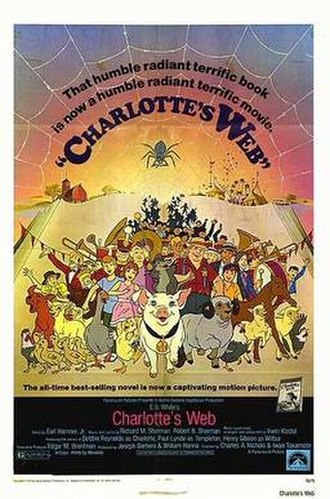Charlotte's Web (1973 film) - Theatrical release poster