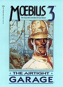 Cover image of 1987 U.S. edition of Moebius - The Airtight Garage, published by Epic.jpg