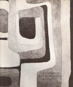 Maureen Paley - Cover of Summer 1973 edition of Sarah Lawrence Magazine with artwork by Paley