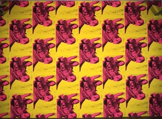 Cow Wallpaper - Image: Cow wallpaper Andy Warhol