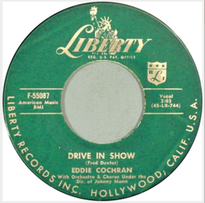 Drive In Show - Image: Drive In Show Eddie Cochran Liberty 45