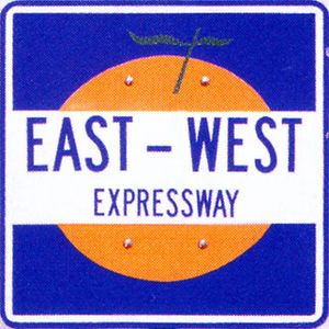 Florida State Road 408 - Former East–West Expressway shield, with an orange