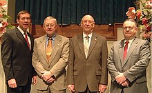 Keith McAlister, Harold Mangrum, Tony Callahan, and Greg Mangrum - the elders of the Forest Hill Church of Christ which oversee MSOP