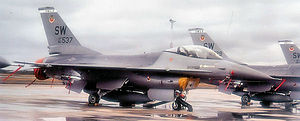 General Dynamics F-16A Block 10D Fighting Falcon Serial No: 80-537 of the 363 TFW at Shaw AFB. This aircraft was static display at Lockheed-Martin, Fort Worth, TX. On 19 March 2004 it was noted to be in use as a ground instructional airframe at NAS Fort Worth JRB (former Carswell AFB), TX.