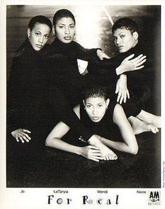 For Real - For Real, 1994.  L-R: Josina Elder-Epps, LaTanyia Baldwin, Wendi Williams, and Necia Bray-Gates.