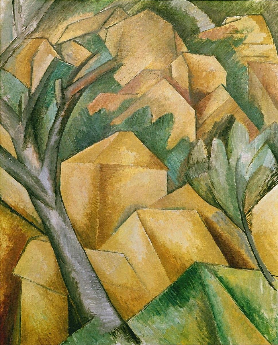 Georges Braque, 1908, Maisons à l'Estaque (Houses at L'Estaque), oil on canvas, 73 x 59.5 cm, Kunst Museum Bern