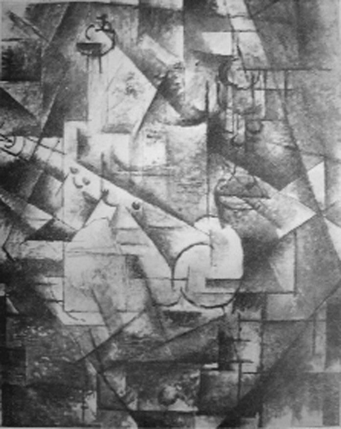 Georges Braque, 1911, Nature morte (Still Life), Reproduced in Du Cubisme, 1912