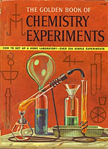 copertina di the golden book of chemistry experiments