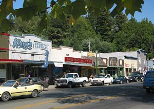 Guerneville, California - Downtown area along Main Street