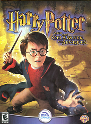 Harry Potter and the Chamber of Secrets (video game) - North American cover art