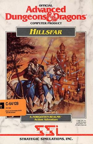 Hillsfar - Cover art for Hillsfar (Commodore 64 version)